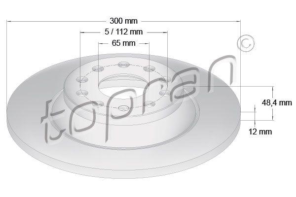 VW Disques de frein d'Origine 116 888