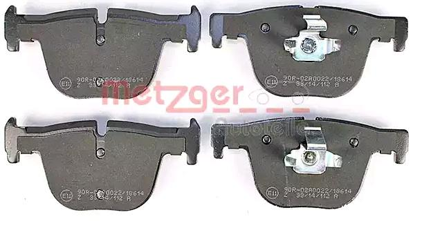 Bremsbelagsatz METZGER 1170816