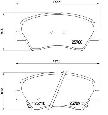Bremsbelagsatz Scheibenbremse METZGER 1170817