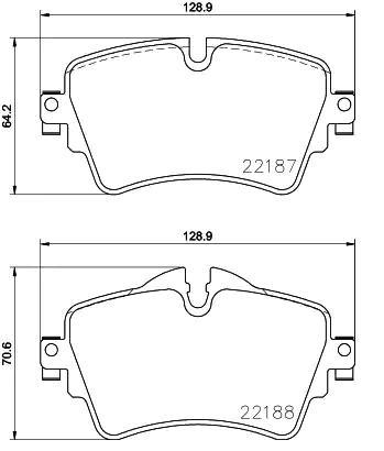 Bremsbelagsatz Scheibenbremse METZGER 1170833
