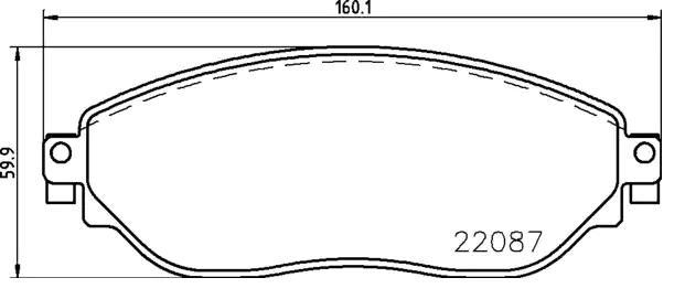 Original RENAULT Bremsbelagsatz 1170834