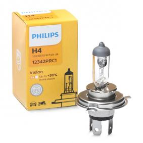 H4 PHILIPS 60/55W, H4, 12V, Vision Gloeilamp, verstraler 12342PRC1 koop goedkoop