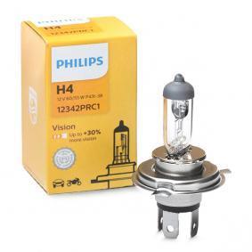 H4 PHILIPS 60/55W, H4, 12V, Vision Glödlampa, fjärrstrålkastare 12342PRC1 köp lågt pris