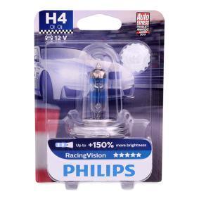 H4 PHILIPS RacingVision 60/55W, H4, 12V Glühlampe, Fernscheinwerfer 12342RVB1 günstig kaufen