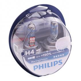 H4 PHILIPS RacingVision 60/55W, H4, 12V Lâmpada, farol de longo alcance 12342RVS2 comprar económica