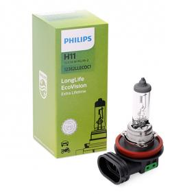 H11 PHILIPS LongLife EcoVision 55W, H11, 12V Glühlampe, Fernscheinwerfer 12362LLECOC1 günstig