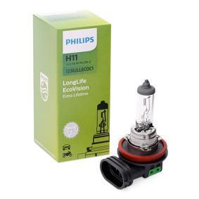H11 PHILIPS LongLife EcoVision 55W, H11, 12V Gloeilamp, verstraler 12362LLECOC1 koop goedkoop