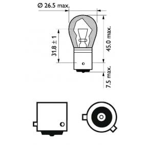 12496SVB2 Glödlampa, blinker PHILIPS - Billiga märkesvaror