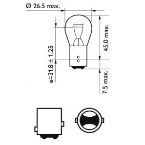12499CP Ampoule, feu clignotant PHILIPS - Produits de marque bon marché
