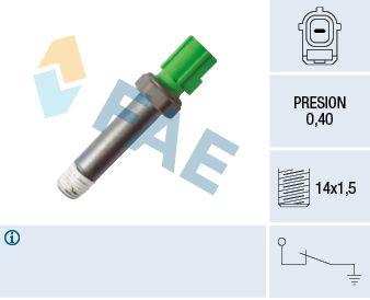 FAE: Original Öldrucksensor 12616 (Pol-Anzahl: 1-polig)