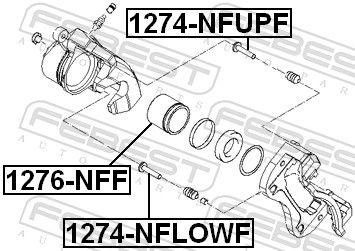 FEBEST   Kolben, Bremssattel 1276-NFF
