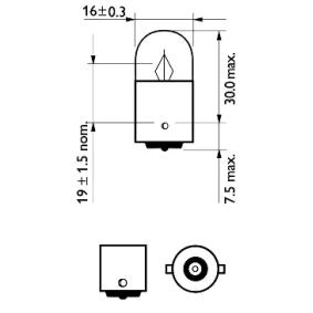 12821CP Lemputė, indikatorius PHILIPS - Pigus kokybiški produktai