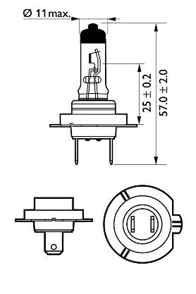 12972LLECOB1 Крушка с нагреваема жичка, фар за дълги светлини PHILIPS в оригиналното качество