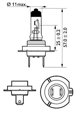 12972PRB1 Glühlampe, Fernscheinwerfer PHILIPS - Markenprodukte billig