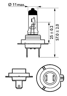 12972PRC1 Glühlampe, Fernscheinwerfer PHILIPS zum Schnäppchenpreis