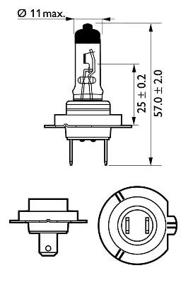 12972PRC2 Glühlampe, Fernscheinwerfer PHILIPS 37432260 - Große Auswahl - stark reduziert
