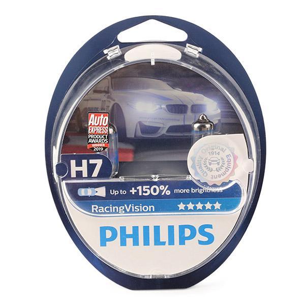 Купете H7 PHILIPS RacingVision 55ват, H7, 12волт Крушка с нагреваема жичка, фар за дълги светлини 12972RVS2 евтино