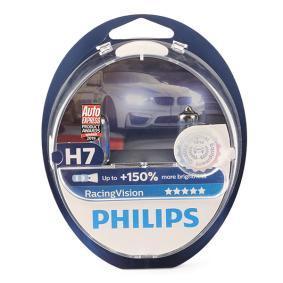 Køb H7 PHILIPS RacingVision 55w, H7, 12V Pære, fjernlys 12972RVS2 billige