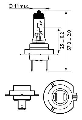 12972VPC2 Glühlampe, Fernscheinwerfer PHILIPS 37426160 - Große Auswahl - stark reduziert