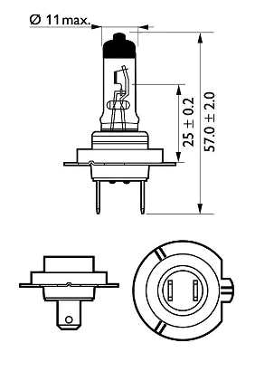 12972VPS2 Glühlampe, Fernscheinwerfer PHILIPS H7 - Große Auswahl - stark reduziert
