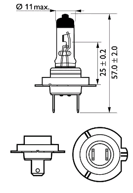 12972XV+B1 Glühlampe, Fernscheinwerfer PHILIPS - Markenprodukte billig