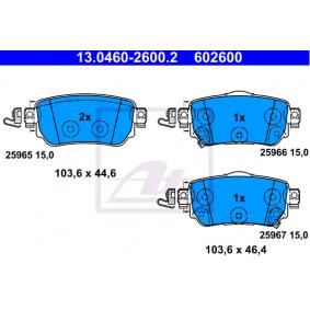 13046026002 Bremsbelagsatz, Scheibenbremse ATE 25966 - Große Auswahl - stark reduziert