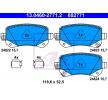 Bremsbelagsatz, Scheibenbremse 13.0460-2771.2 — aktuelle Top OE 68029 887AA Ersatzteile-Angebote