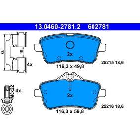 13046027812 Bremsbeläge ATE 25215 - Große Auswahl - stark reduziert