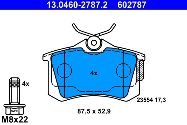 13.0460-2787.2 Bremsbelagsatz ATE - Markenprodukte billig