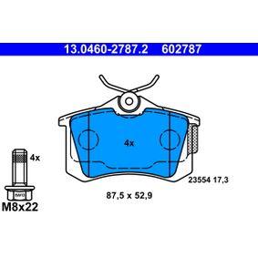 13046027872 Piduriklotsi komplekt, ketaspidur ATE 602787 - Lai valik