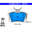 Piduriklotsi komplekt, ketaspidur 13.0460-2787.2 eest AUDI A3 soodustusega - oske nüüd!