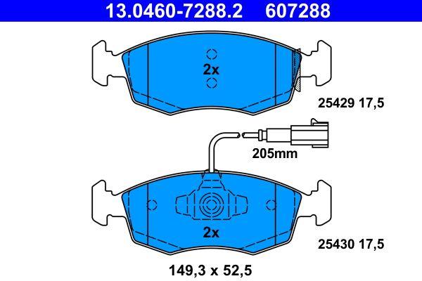 13.0460-7288.2 Bremsbelagsatz, Scheibenbremse ATE Test