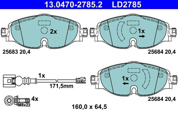 13.0470-2785.2 Bremssteine ATE in Original Qualität