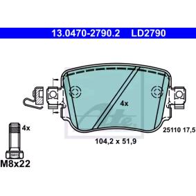 Scheibenbremse 16912 HA für SKODA FEBI BILSTEIN Bremsbelagsatz