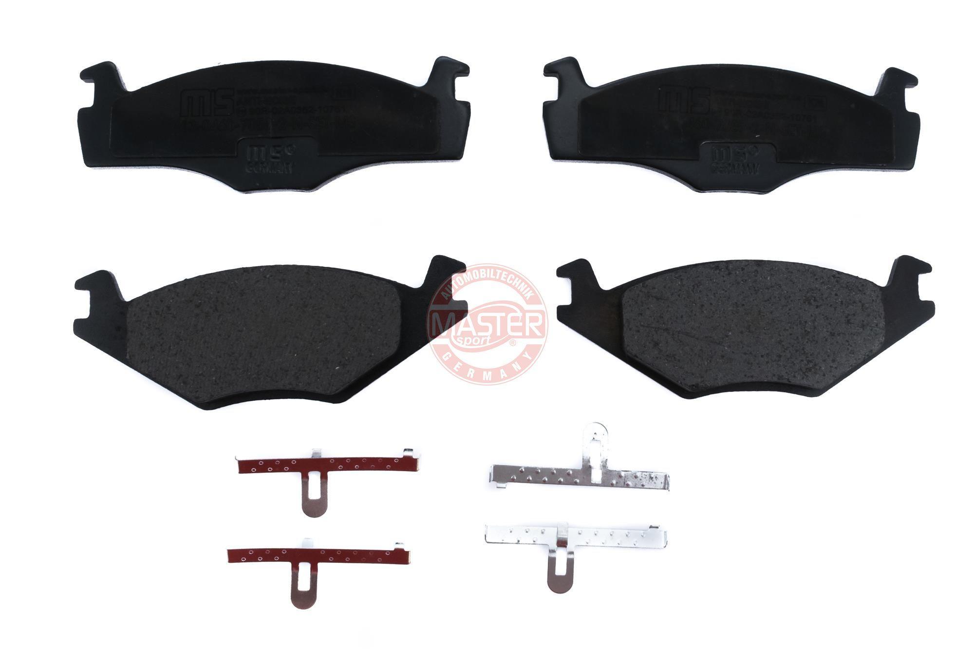 MASTER-SPORT 13046070592N-SET-MS (Hauteur 1: 48,9mm, Hauteur 2: 51,3mm, Largeur: 137,8mm, Épaisseur: 17,3mm) : Kit de plaquettes de frein VW Polo 86c 1993
