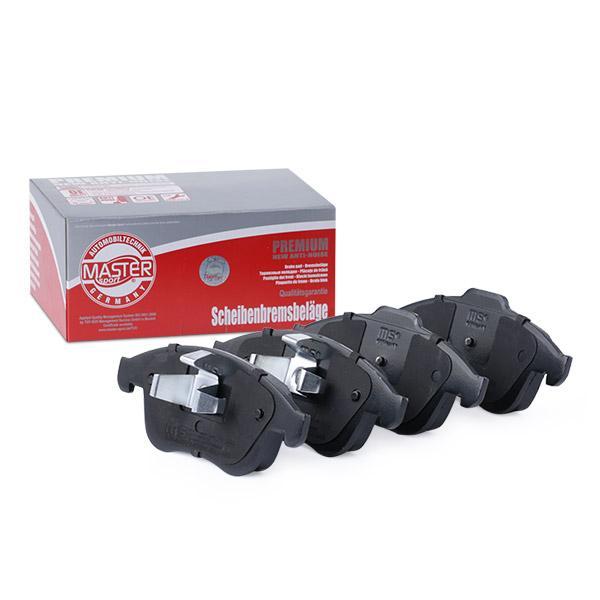 24710 MASTER-SPORT exkl. Verschleißwarnkontakt, nicht für Verschleißwarnanzeiger vorbereitet, mit Anti-Quietsch-Blech Höhe 1: 63,0mm, Höhe 2: 68,3mm, Breite 1: 155,1mm, Breite 2: 156,3mm, Dicke/Stärke: 18,6mm Bremsbelagsatz, Scheibenbremse 13046072492N-SET-MS günstig kaufen