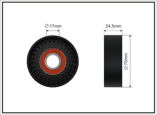 Buy CAFFARO Tensioner Pulley, v-ribbed belt 136-00 truck