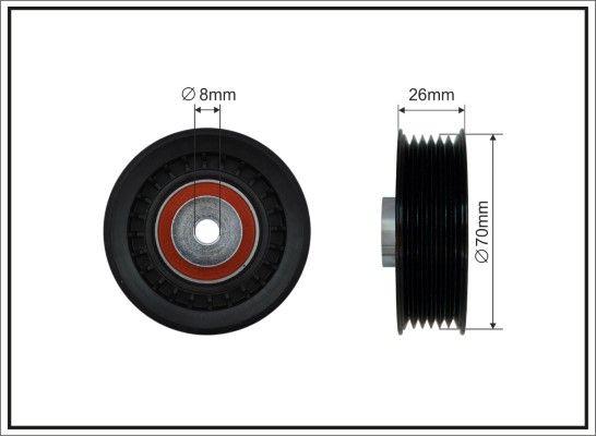 Achat de 140-22 CAFFARO Ø: 70mm Poulie renvoi / transmission, courroie trapézoïdale à nervures 140-22 pas chères