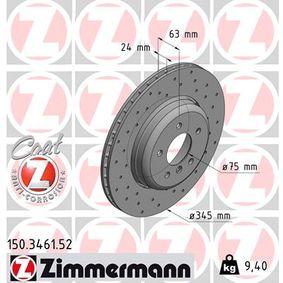 150.3461.52 Bremsscheiben ZIMMERMANN in Original Qualität