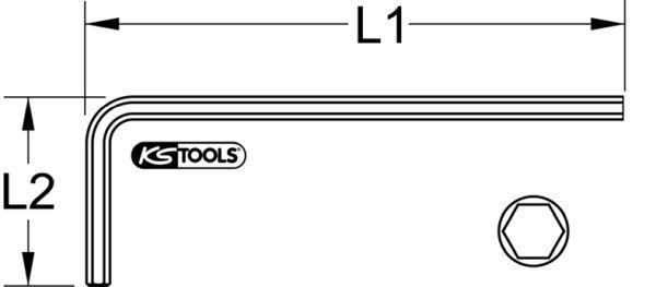 Winkelschraubendreher KS TOOLS (151.26013)