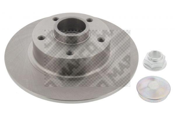 15146 MAPCO Hinterachse, Voll, mit Radlagersatz, mit ABS-Sensorring Ø: 260mm, Lochanzahl: 5, Bremsscheibendicke: 8mm Bremsscheibe 15146 günstig kaufen