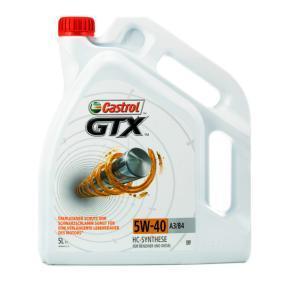 A3B4 CASTROL GTX, A3/B4 5W-40, 5L Aceite de motor 15218F a buen precio