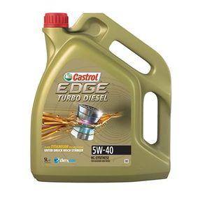 Comprare dexos2? CASTROL Turbo Diesel, EDGE TITANIUM FST 5W-40, 5l, Olio sintetico 100% Olio motore 1535BC poco costoso