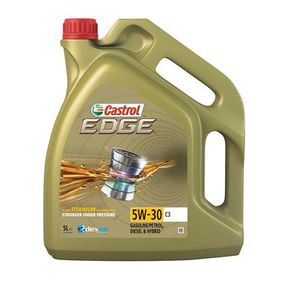 Ostaa GMdexos2 CASTROL C3, EDGE TITANIUM FST 5W-30, 5l, Täysisynteetinen öljy Moottoriöljy 1552FD edullisesti
