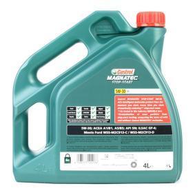 Ostaa FordWSSM2C913B CASTROL Magnatec, Stop-Start A5 5W-30, 4l, Täysisynteetinen öljy Moottoriöljy 159B9A edullisesti