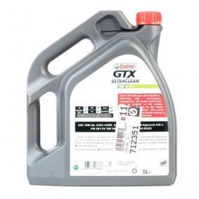 VW50500 CASTROL GTX, Ultraclean A3/B4 10W-40, 5l, Delsyntetolja Motorolja 15A4D5 köp lågt pris