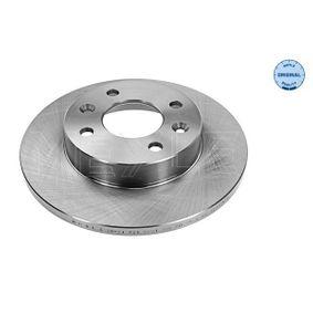 MBD1822 MEYLE ORIGINAL Quality, Vorderachse, Voll Ø: 238mm, Lochanzahl: 4, Bremsscheibendicke: 12mm Bremsscheibe 16-15 521 0035 günstig kaufen