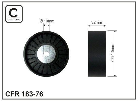 Achat de 183-76 CAFFARO Ø: 94,5mm Poulie renvoi / transmission, courroie trapézoïdale à nervures 183-76 pas chères