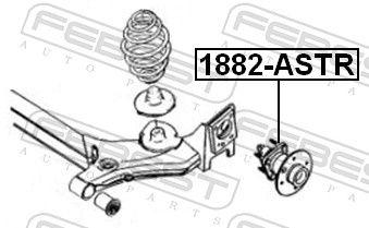 FEBEST | Главина на колелото 1882-ASTR