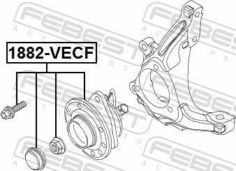 1882-VECF Главина на колелото FEBEST - опит